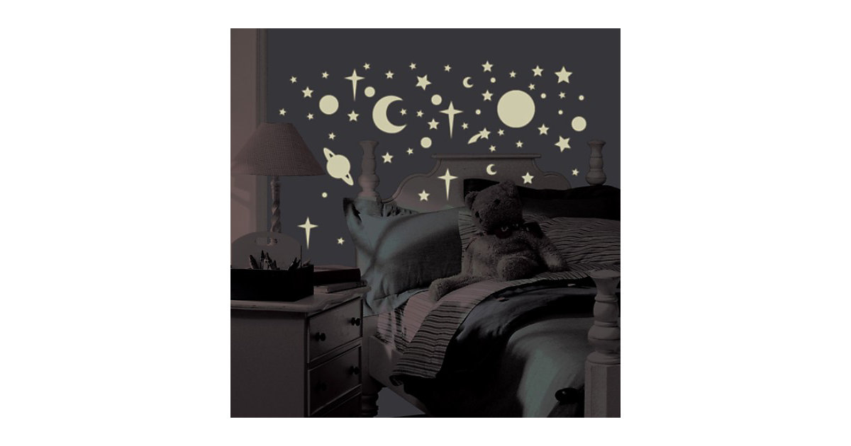Wandsticker Leuchtsterne & Planeten, Glow in Dark, 258-tlg.