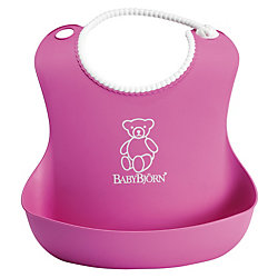 Мягкий нагрудник с карманом BabyBjorn, розовый