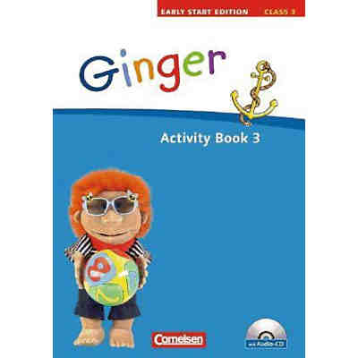 Ginger - Early Start Edition: Class 3, Activity Book m. Audio-CD