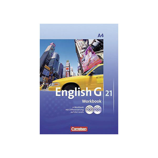 English G 21, Ausgabe A: 8. Schuljahr, Workbook m. CD-ROM (e-Workbook) u. Audio-CD