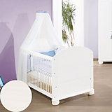 Kinderbett CLARA, massiv/Weiß lasiert, 70 x 140 cm