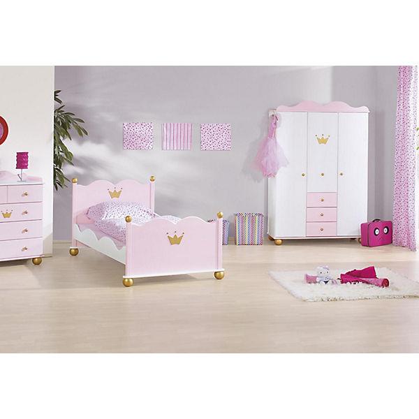 komplett jugendzimmer prinzessin karolin 3 tlg jugendbett kommode und 3 t riger. Black Bedroom Furniture Sets. Home Design Ideas