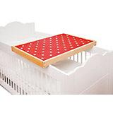 Wickelplatte PIT für Kinderbett, Buche massiv mit Auflage