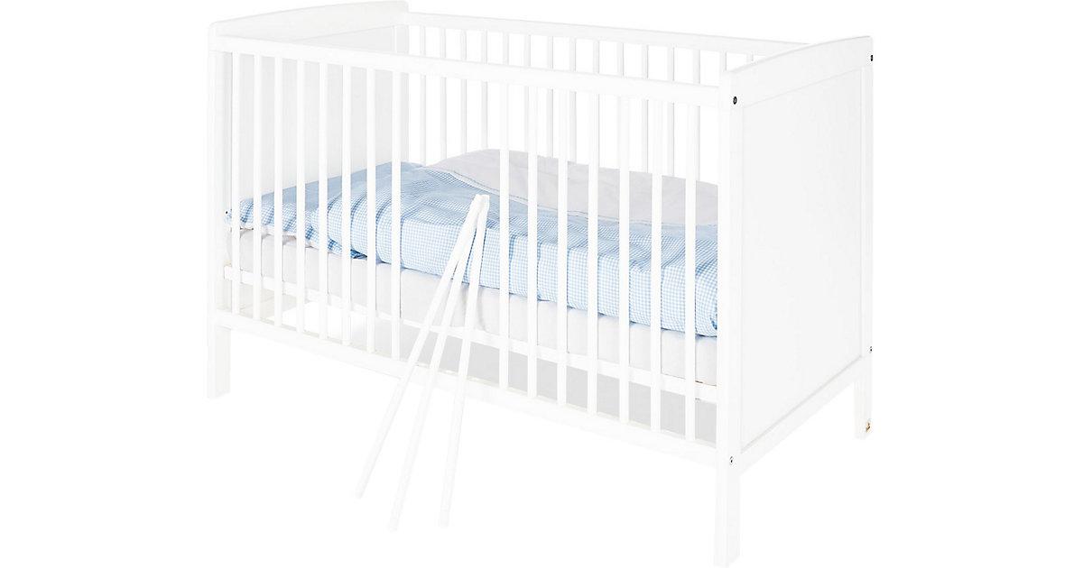 Kinderbett ROBIN, Kiefer weiß, 60 x 120 cm