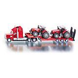 SIKU 1857 LKW mit 2 Massey-Ferguson Traktoren  1:87