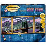Malen nach Zahlen Premium - Skyline von New York, 100x40 cm