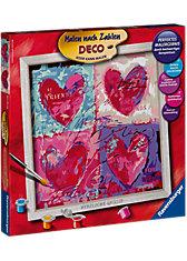 Malen nach Zahlen Deco Quadrat - Herzliche Grüsse, 30x30 cm