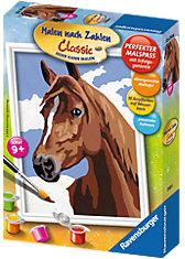 Malen nach Zahlen Serie E - Stolzes Pferd, 13x18 cm