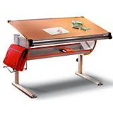 Schreibtisch PLATO, Metall/Buche Dekor