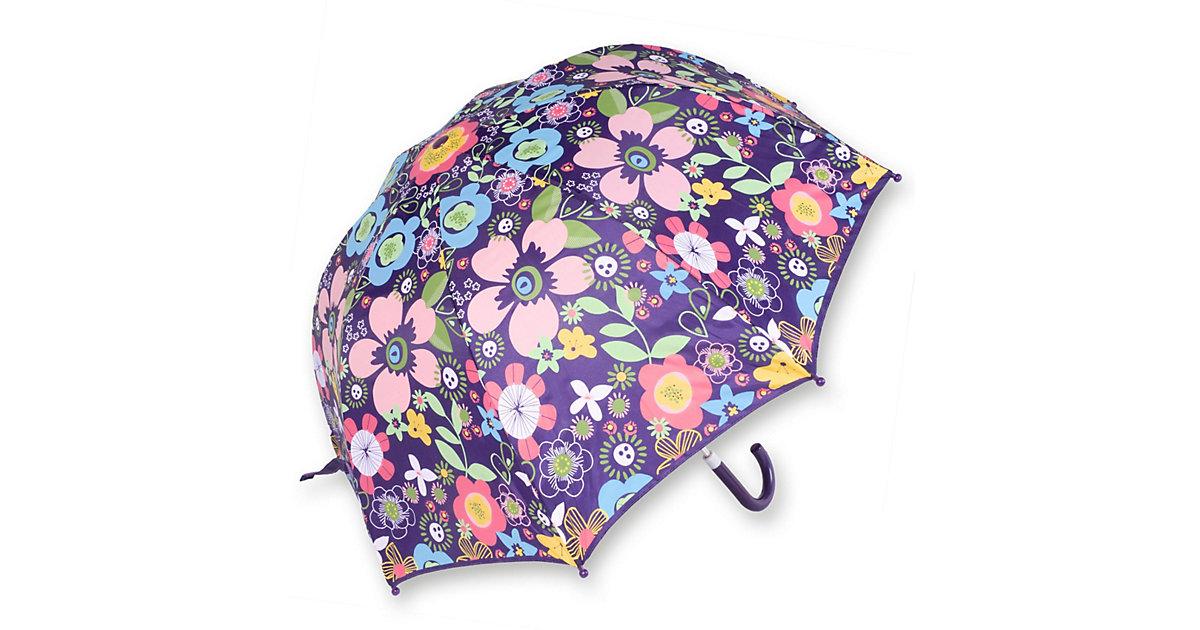 Kinder Regenschirm Flora lila