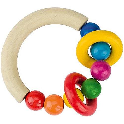 Greifling halbrund mit Perlen und 2 Ringen