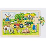 Wooden Puzzle, 24 Pieces, Müller's Farm
