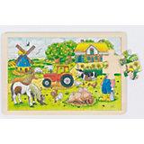 Wooden Puzzle, 24 Pieces, Müller's Farm