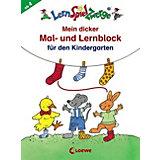 LernSpielZwerge: Mein dicker Mal- und Lernblock für den Kindergarten