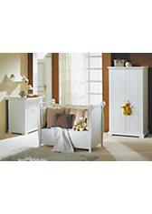 Komplett Kinderzimmer FELICE, 3-tlg. (Kinderbett, Wickelkommode und 2-türiger Kleiderschrank), weiß