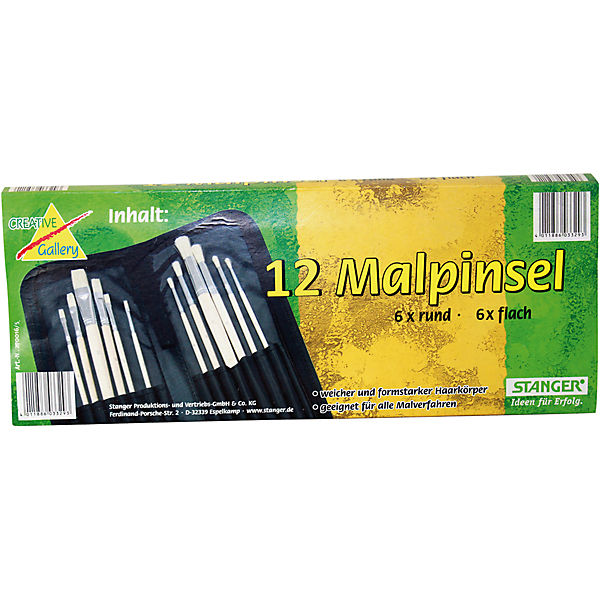 Pinselset, 12 Malpinsel
