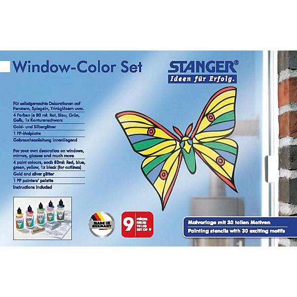 window color set schmetterling mytoys. Black Bedroom Furniture Sets. Home Design Ideas