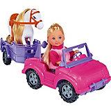 Steffi Love Еви с трейлером для лошадки