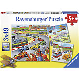 Jigsaw Puzzle Set - 3 x 49 Pieces - Everything On The Move