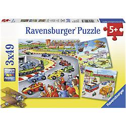 """Пазлы """"Транспорт"""" Ravensburger, 3х49 деталей"""