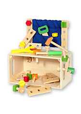 Werkbank und Holzbox 2-in-1