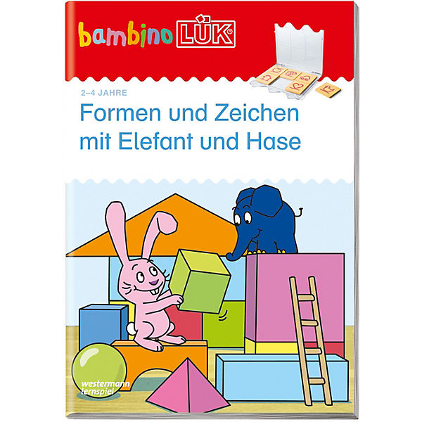 bambinol k formen und zeichen mit elefant und hase basales training bambinol k mytoys. Black Bedroom Furniture Sets. Home Design Ideas