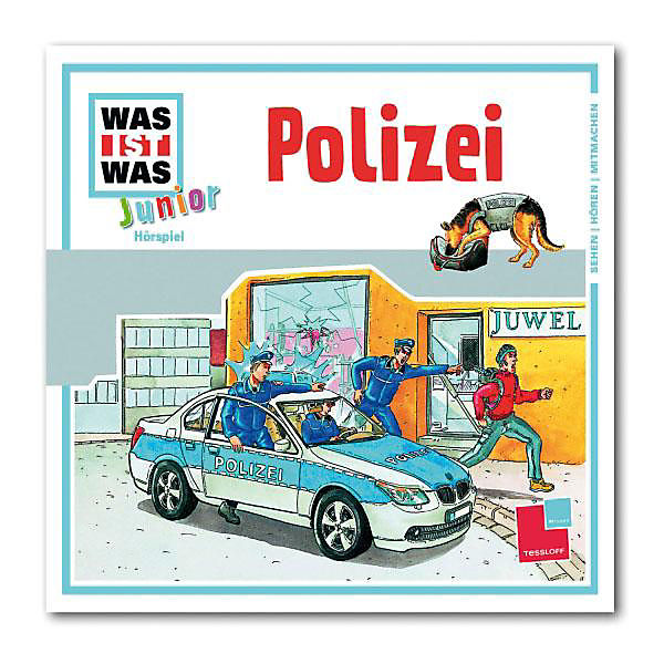 cd was ist was junior 8 polizei universal mytoys. Black Bedroom Furniture Sets. Home Design Ideas