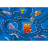 Kinderteppich World of Cars, 95 x 133 cm, blau