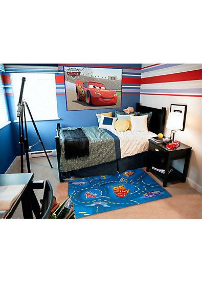 Kinderteppich World of Cars, 95 x 133 cm, blau