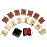 Mini Boys Stamp Set, 17 Pieces