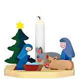 Kerzenhalter Holz Krippe zum Basteln und Gestalten