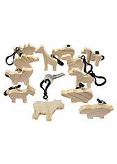 Schlüsselanhänger Holz Zoo zum Selbstgestalten, 12 Stück