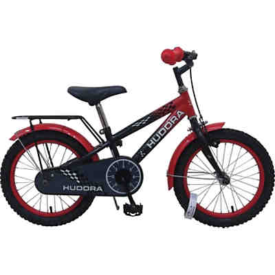 kinderfahrrad 16 zoll schwarz rot hudora mytoys. Black Bedroom Furniture Sets. Home Design Ideas