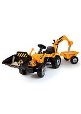 Smoby Traktor Builder Max mit Anhänger
