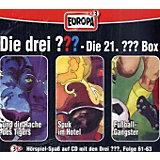 Die drei Fragezeichen, Die 21. Box, Folge 61-63, 3 Audio-CDs