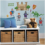 Knights + Castle Wall Stickers, 24-piece