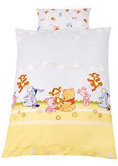 Wende- Kinderbettwäsche Baby Pooh and Friends, Linon, 100 x 135 cm