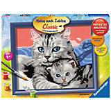 Malen nach Zahlen Serie C - Katzenliebe, 24x30 cm