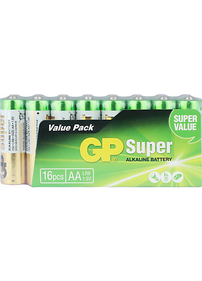 Batterien 16er Pack (Mignon, LR6, AA, AM-3, UM-3)