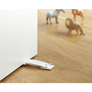 2-Way Door Stop, White