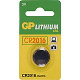Knopfzelle GP Lithium CR2016, 3 Volt, 1er Blister