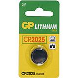 Knopfzelle GP Lithium CR2025, 3 Volt, 1er Blister