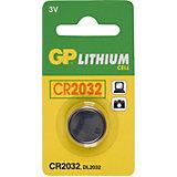 Knopfzelle GP Lithium CR2032, 3 Volt, 1er Blister