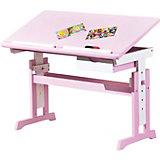 ABC Schreibtisch CECILIA, rosa/weiß