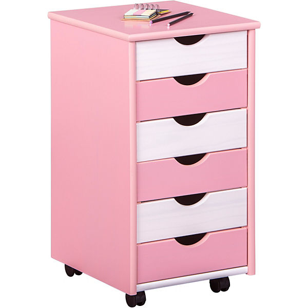 abc rollcontainer titje rosa wei mytoys. Black Bedroom Furniture Sets. Home Design Ideas