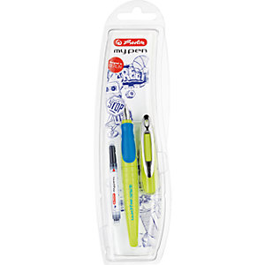 my.pen Fountain Pen Light Green/Dark Green M, For Right Hand Use