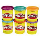 Play-Doh - Knet-Dosen 6er-Pack Knet-Dosen - Neonfarben