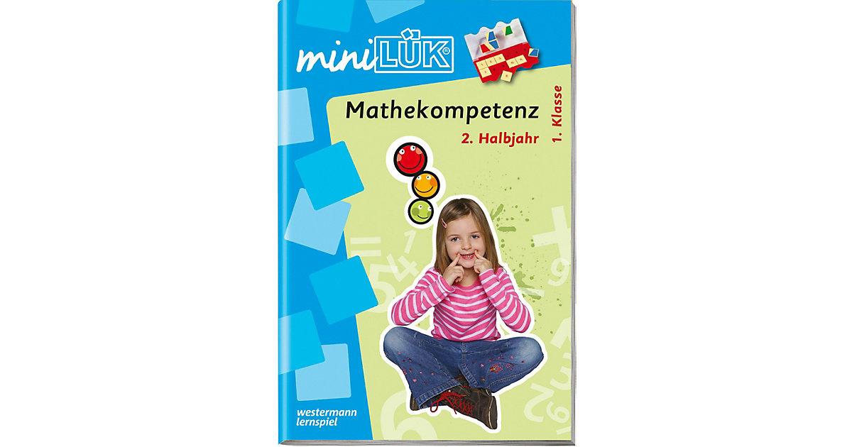 Buch - mini LÜK: Mathekompetenz 1. Klasse, 2. Halbjahr, Übungsheft