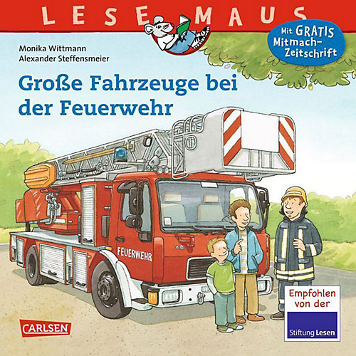 Buch - Lesemaus: Große Fahrzeuge bei der Feuerwehr