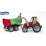 ROADMAX Трактор с ковшом и прицепом, Bruder
